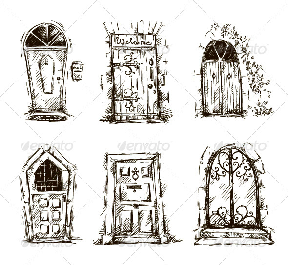 GraphicRiver Door Doodles 7779833