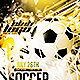 Brazil Soccer Cup 2014 Football Flyer PSD Templete - GraphicRiver Item for Sale