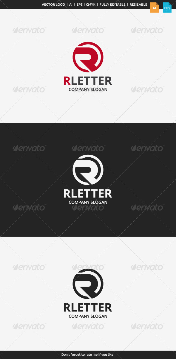 GraphicRiver R Letter Logo 7781946