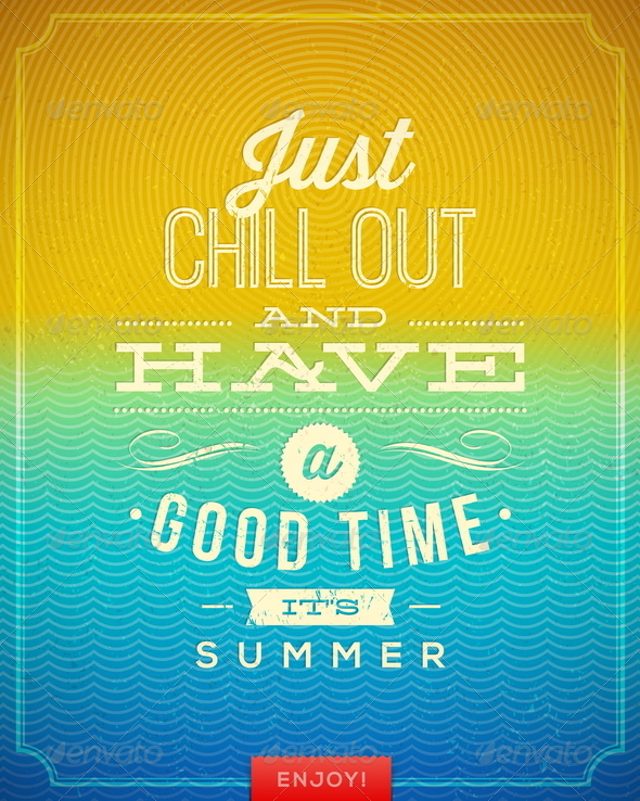 GraphicRiver Vector Vintage Poster with Summer Vacation Quote 7781997