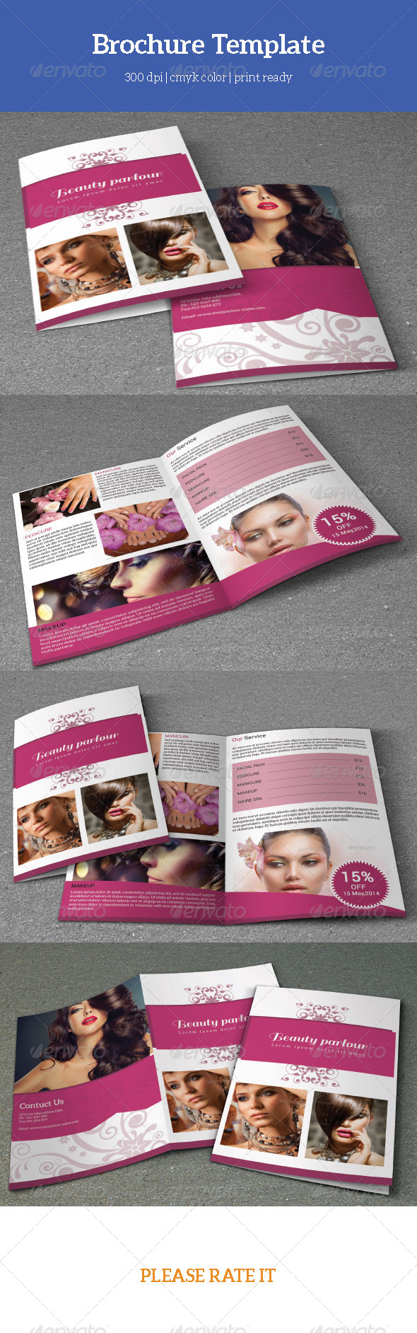 GraphicRiver Bifold Beauty salon Brochure-V07 7782229