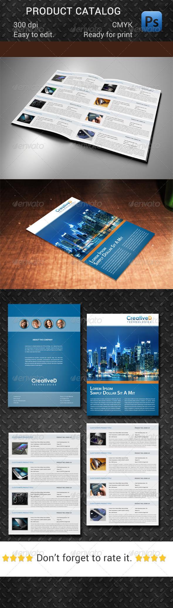 GraphicRiver Product Catalog 7762237