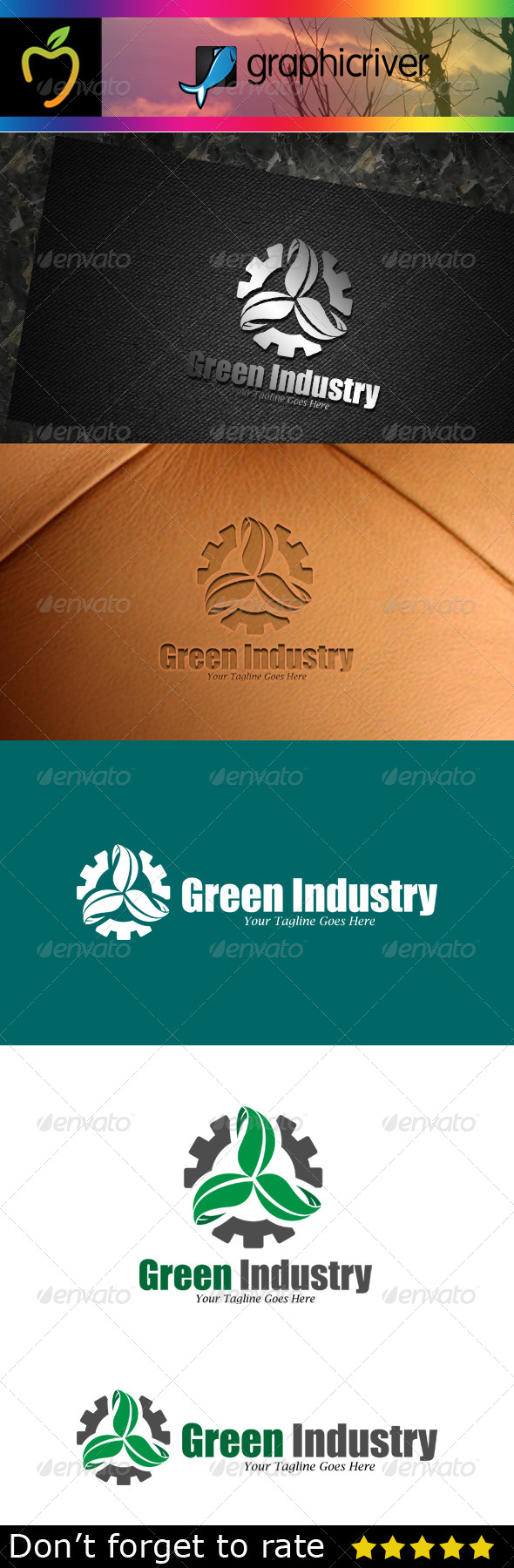GraphicRiver Green Industry Logo 7783419