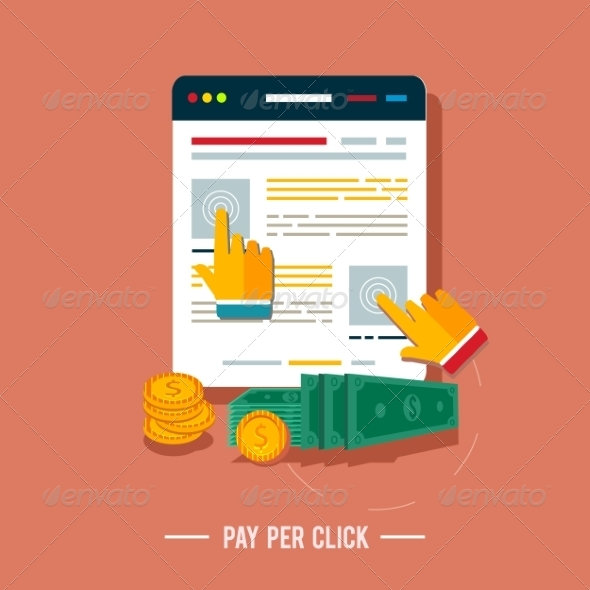 GraphicRiver Pay Per Click Internet Advertising Model 7784603