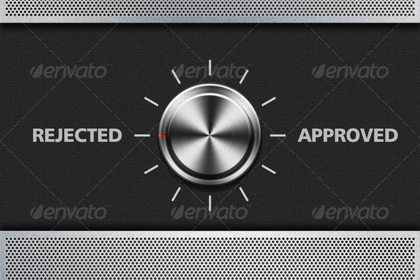 Metal_Button_Selection_Rejected_001 - Stock Photo - Images