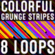 Colorful Grunge Stripes VJ Pack - VideoHive Item for Sale