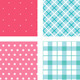 Set of Fabric Textures in Pink and Blue Colours - GraphicRiver Item for Sale