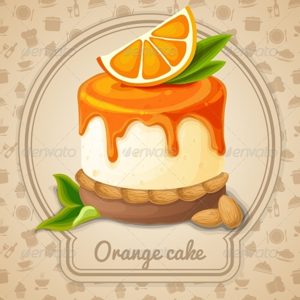 GraphicRiver Orange Cake Emblem 7785395
