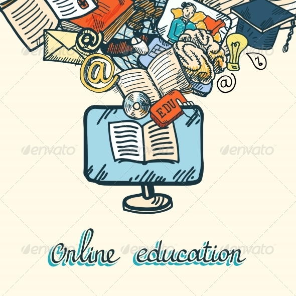 GraphicRiver Online Education Icon Set 7785562