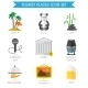 Building Tourism Icons Flat - GraphicRiver Item for Sale