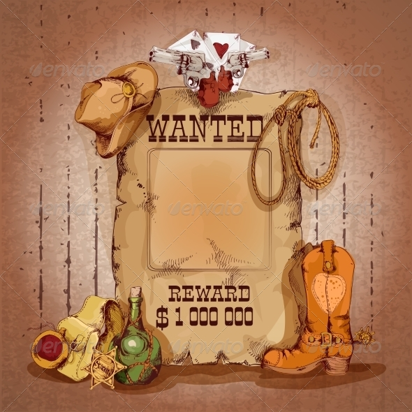 GraphicRiver Wild West Poster 7785676