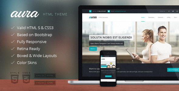 ThemeForest Aura Responsive Multipurpose Template 7786132