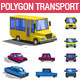 Polygonal Style Transport Icon Set - GraphicRiver Item for Sale