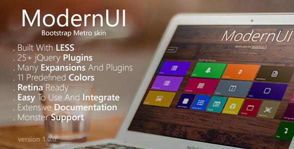 CodeCanyon ModernUI Bootstrap Metro Skin 7786608