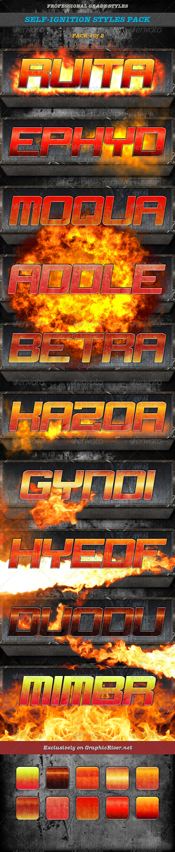 GraphicRiver Self-Ignition Style Pack 2 of 2 7786765