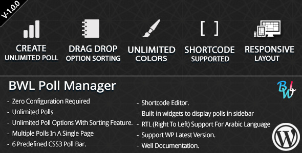 CodeCanyon BWL Poll Manager 7787100