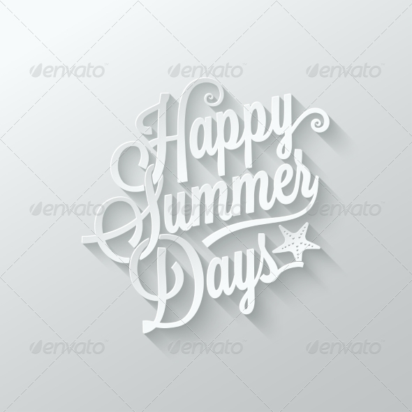 GraphicRiver Summer Paper Cut Lettering Background 7788206