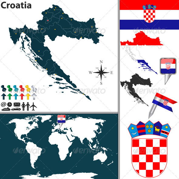 GraphicRiver Map of Croatia 7789164