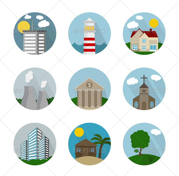 GraphicRiver Icon Flat City 7789250