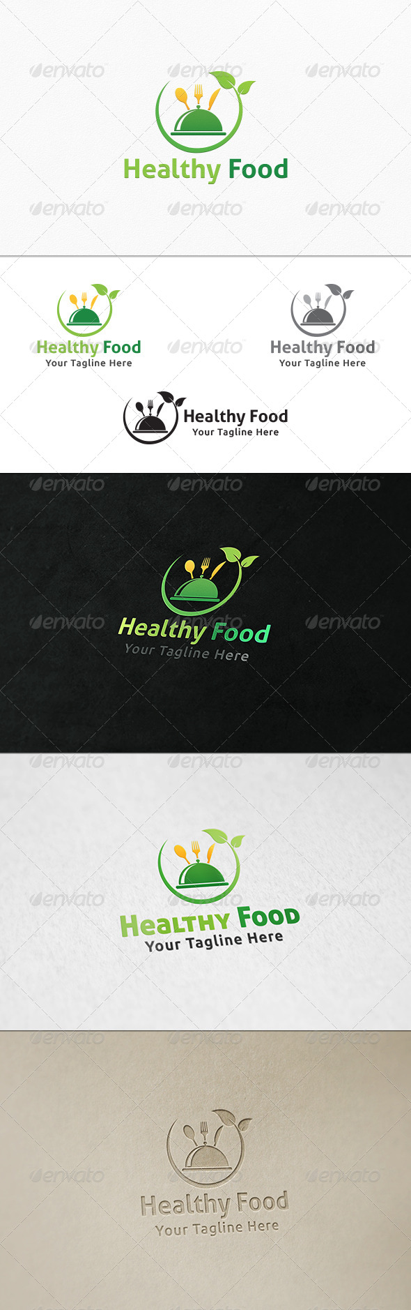 GraphicRiver Healthy Food Logo Template 7789268