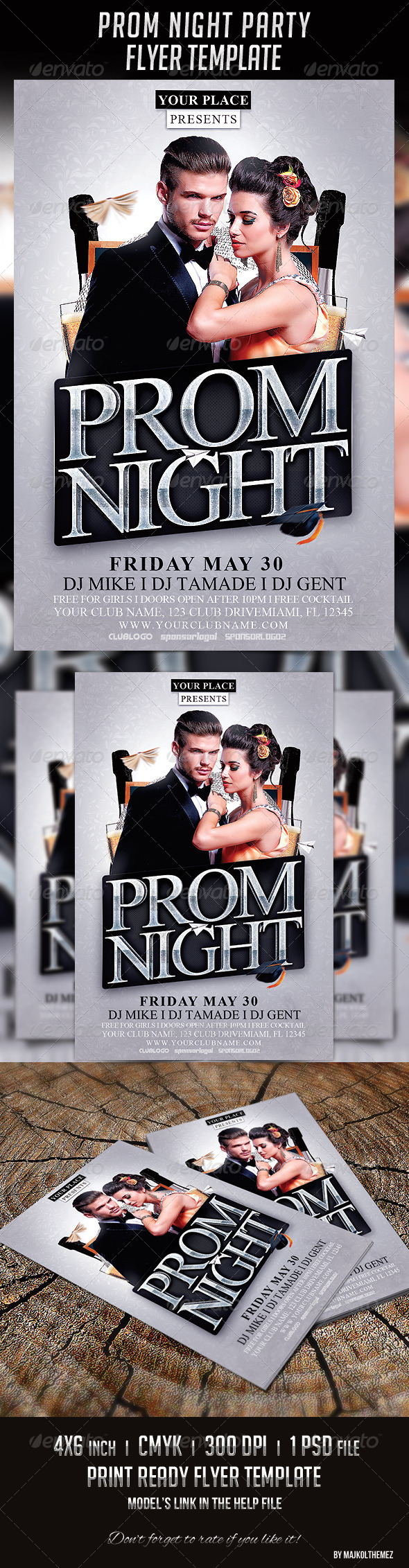 GraphicRiver Prom Night Party Flyer Template 7789708