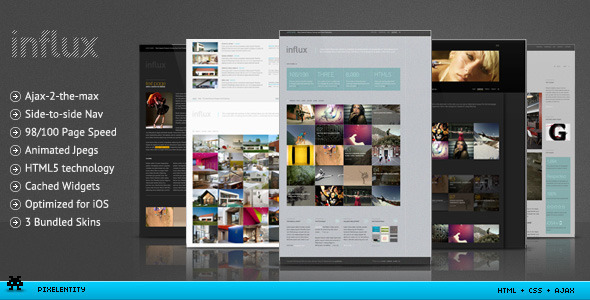 Influx - Ajax / HTML5 Business Portfolio Template - Creative Site Templates