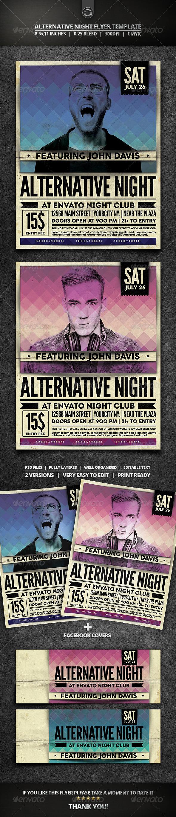 GraphicRiver Alternative Night Flyer Template 7790521