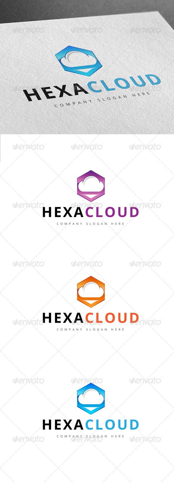 GraphicRiver Hexa Cloud Logo 7791624
