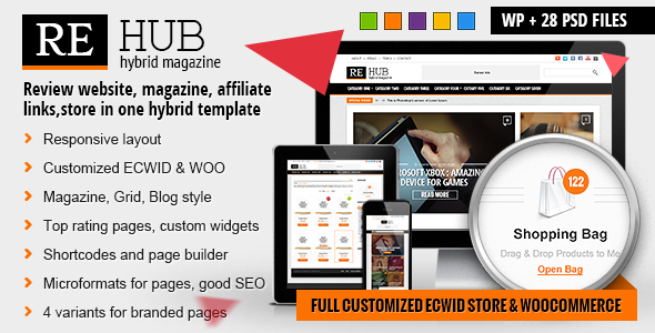 ThemeForest REHub Hybrid News Shop Review Affiliate Theme 7646339