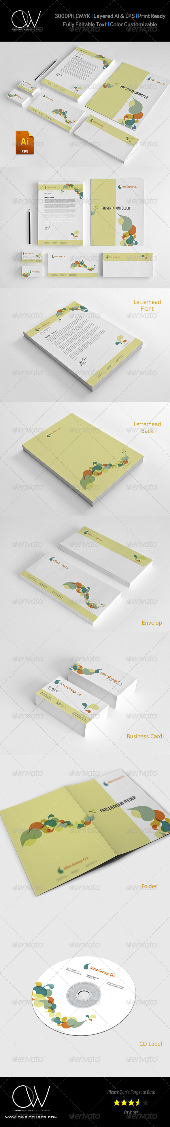 GraphicRiver Corporate Stationery Pack Design Template Vol.9 7771766