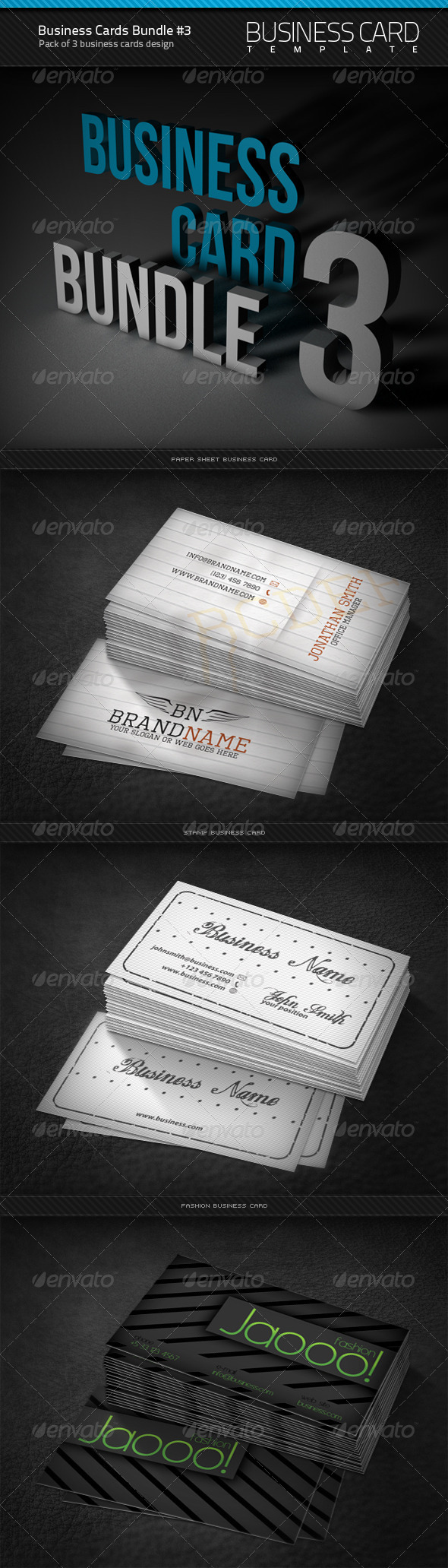Business Cards Bundle #3 - Corporate Business Cards