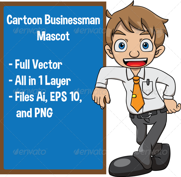 GraphicRiver Cartoon Businessman 7793895