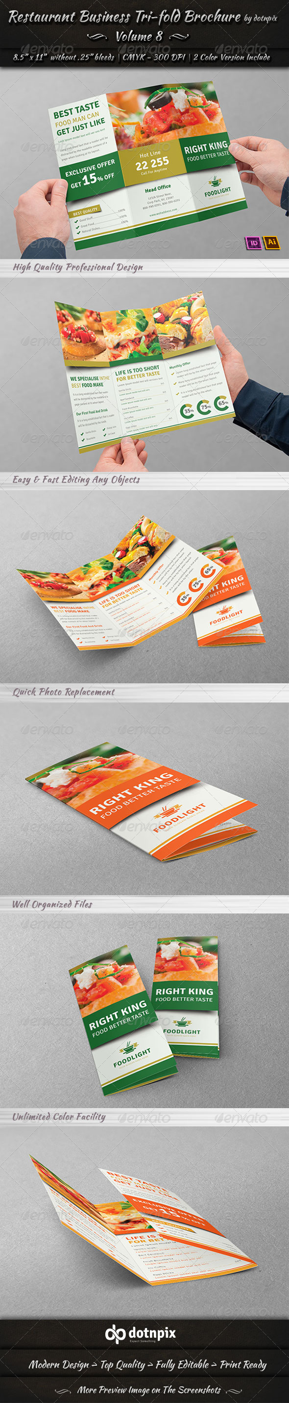 GraphicRiver Restaurant Business Tri-Fold Brochure Volume 8 7793914