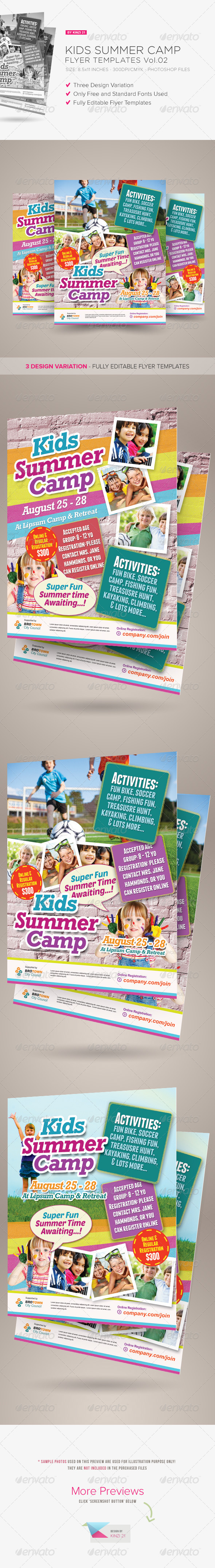 GraphicRiver Kids Summer Camp Flyers Vol.02 7794070
