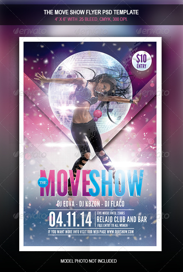 GraphicRiver The Move Show Flyer Template 7794172