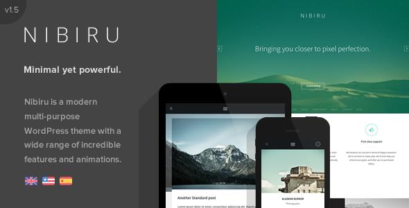 Nibiru - Multi-Purpose Responsive WordPress Theme - Corporate WordPress