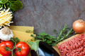 Lasagna Ingredients Food Background - PhotoDune Item for Sale