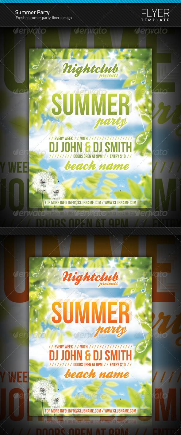 GraphicRiver Summer Party flyer 240935
