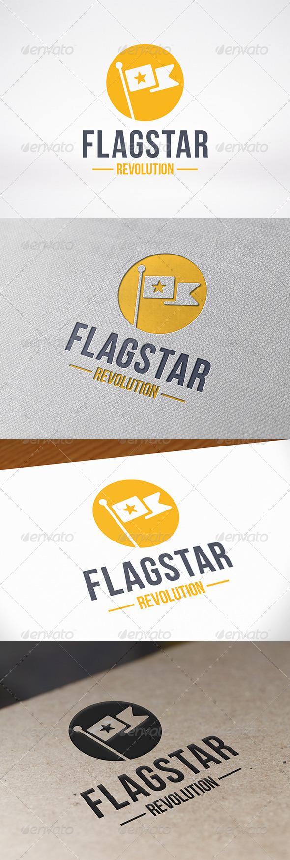 GraphicRiver Flag Star Logo Template 7795292