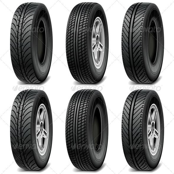 GraphicRiver Car Tires 7795391