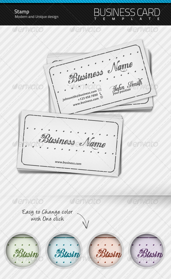 Stamp Business Card - Creative Business Cards