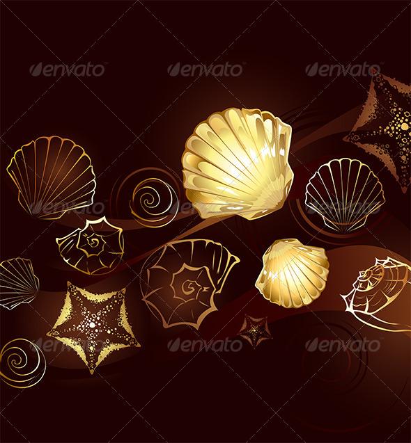 GraphicRiver Gold Seashells 7795583