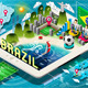 Isometric Infographic of Brazil on Tablet - GraphicRiver Item for Sale