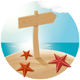 Guidepost At The Sea Beach - GraphicRiver Item for Sale
