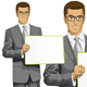 Vector Business Man with Empty Write Board - GraphicRiver Item for Sale