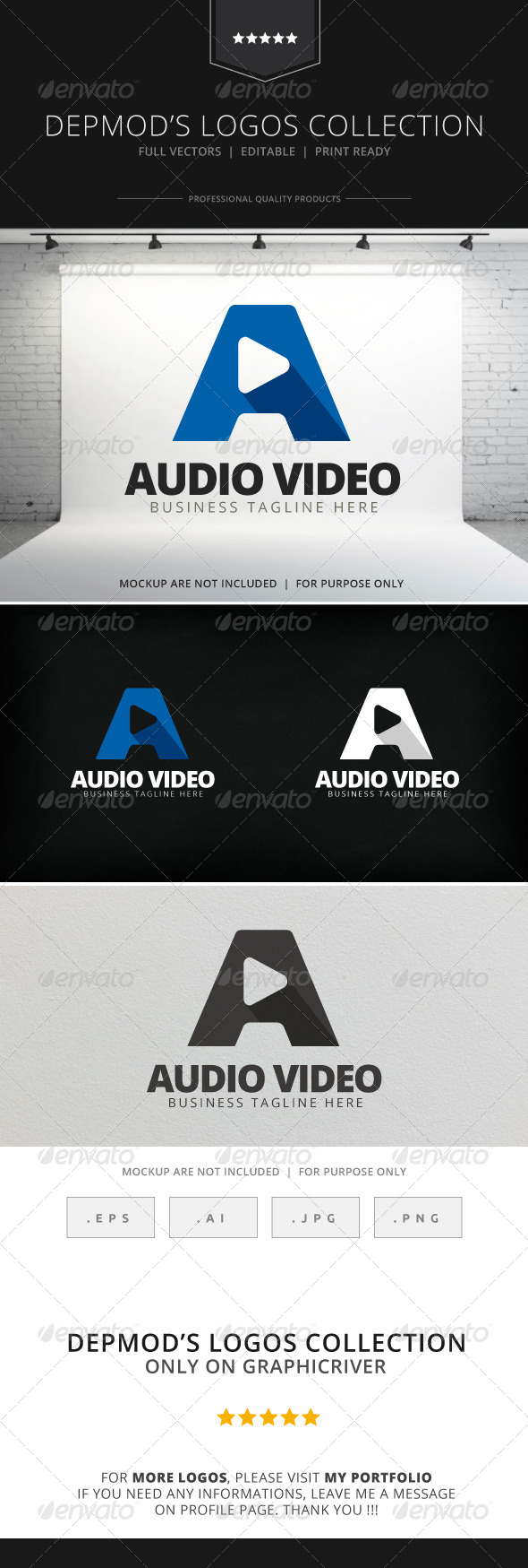 GraphicRiver Audio Video Logo 7796415