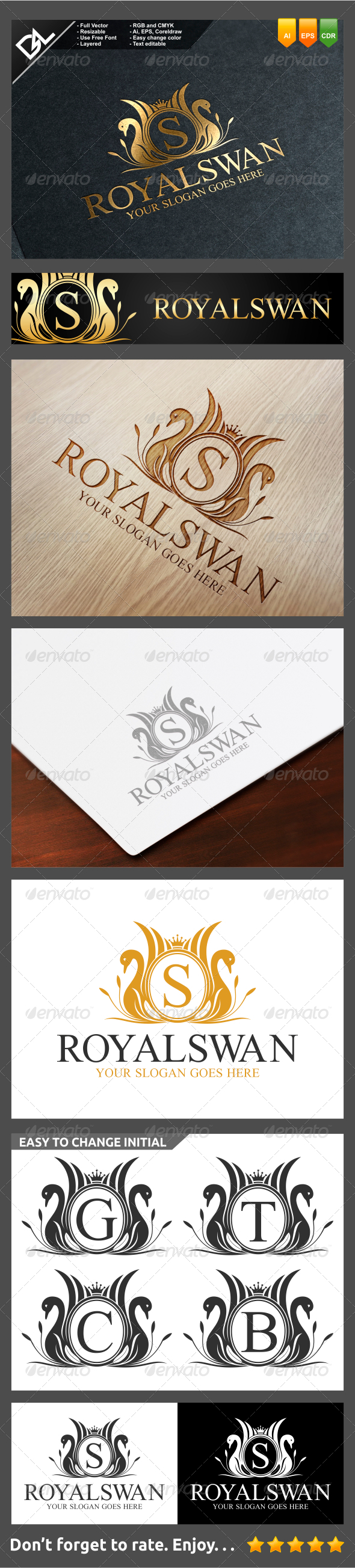 GraphicRiver Royal Swan 7796773