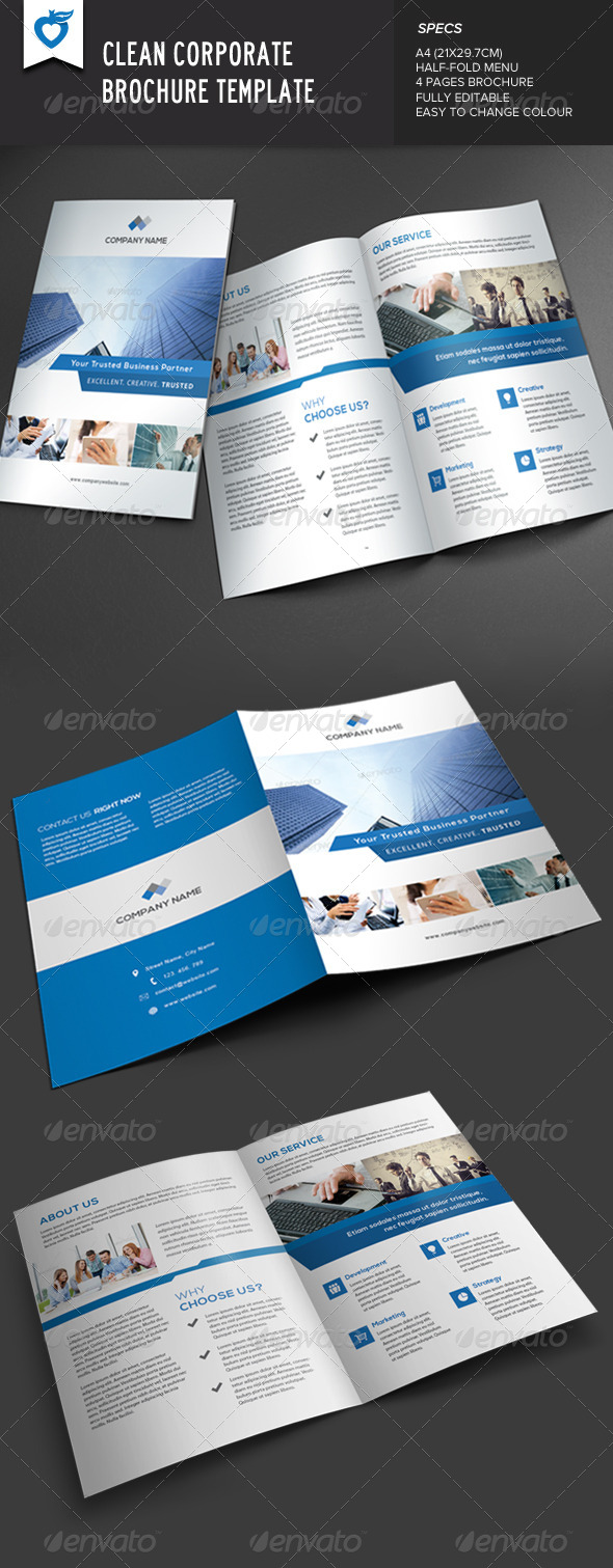 GraphicRiver Clean Corporate Brochure 7798335