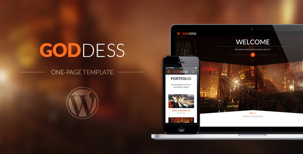 ThemeForest Goddess Multi Purpose & One Page Wordpress Theme 7762897