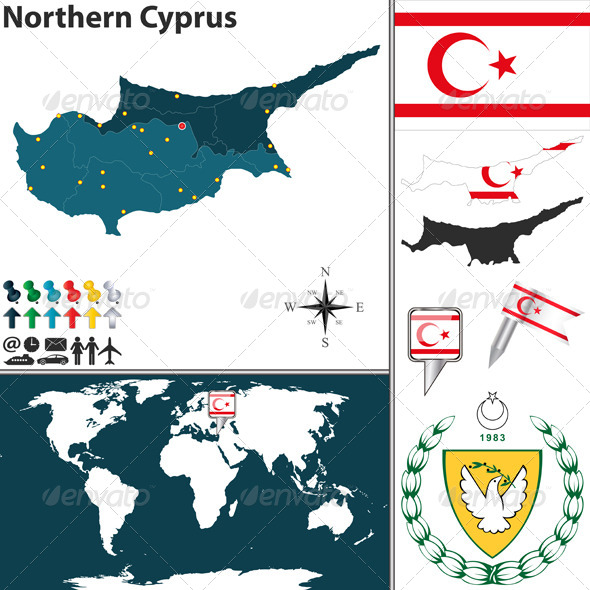 GraphicRiver Map of Northern Cyprus 7799142